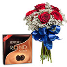Order flowers to Poland: French Kiss with Chocolates