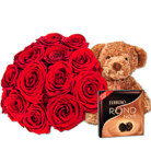 Order flowers to Poland: 15 Roses Bouquet combo