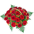 Order flowers to Poland: 25 Roses Basket