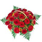 Zamów kwiaty do Polski: 25 Róż w Koszu