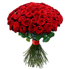 Order flowers to Poland: Hot Fifty Roses