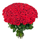 Order flowers to Poland: Hot Hundred Roses Bouquet