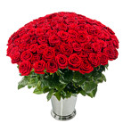 Order flowers to Poland: Hot Hundred Roses Basket