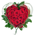 Order flowers to Poland: Mad About You - heart-shaped