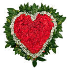 Order flowers to Poland: Red Carnation Heart