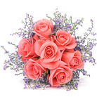 Order flowers to Poland: Seven Pink Roses
