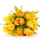 Order flowers to Poland: Nine Yellow Roses