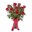 Order flowers to Poland: Classic Dozen Red Roses Bouquet
