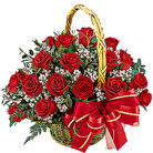 Order flowers to Poland: 20 Red Roses Basket