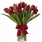 Order flowers to Poland: Scarlet Tulips Bouquet