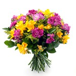 Order flowers to Poland: Colorful Freesia Bouquet