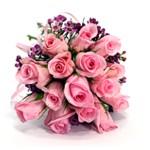 Zamów kwiaty do Polski: Bukiet 15 Różowych Róż