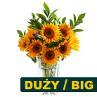 Order flowers to Poland: Sunflowers Bouquet (big)