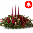 Order flowers to Poland: Christmas Light Centerpiece