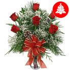 Order flowers to Poland: Red Christmas Greetings Bouquet