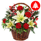 Order flowers to Poland: Christmas Flower Basket