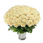 Order flowers to Poland: 100 Cream Roses Basket