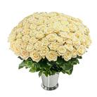 Zamów kwiaty do Polski: Kosz 100 Kremowych Róż