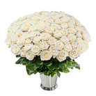 Order flowers to Poland: Hundred White Roses Basket