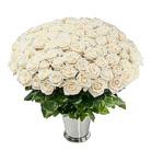 Zamów kwiaty do Polski: Kosz 100 Białych Róż