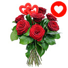 Order flowers to Poland: Two Hearts in Roses Bouquet (smaller)