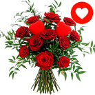 Order flowers to Poland: Two Hearts in Roses Bouquet (bigger)