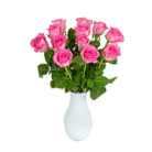 Order flowers to Poland: 12 Pink Roses Bouquet