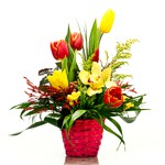 Order flowers to Poland: Small Spring Basket Arrangement