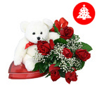 Order flowers to Poland: Special Christmas Gift Combo small