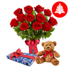 Order flowers to Poland: Special Christmas Gift Combo big