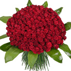 Order flowers to Poland: 201 Long-Stemmed Red Roses Bouquet
