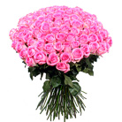 Order flowers to Poland: 101 Pink Roses Bouquet